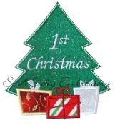 Christmas Tree Embroidered Applique Patch