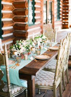 Aqua and Gold Winter Wedding Inspiration | OMalley Photographers