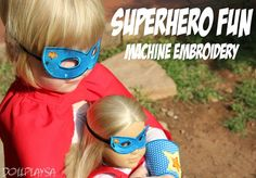 South African Girl Doll and Doll Play SA: Embroidery Project - Superhero Accessories