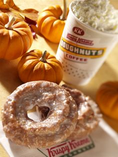 Enjoy our Pumpkin Spice Doughnuts starting this September 2. Pair it with our Pumpkin Spice Latte. Yum!