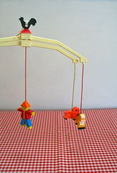 vintage crib mobile  FARM ANIMALS Fisher Price 70s by LittleMsTips, $9.00