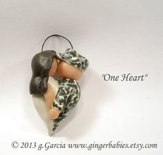 This would make a sweet memory Christmas ornament for the newly married couple militari ornament