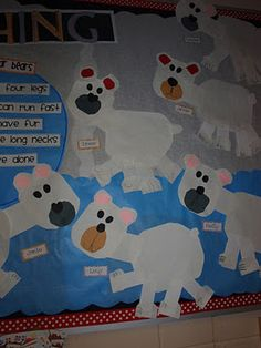 Mrs Jump's class: Arctic Animals Fun! (Would be a fun art project for preschool...3 year olds could cut out the body...all other parts cut out by teacher...then the kids put it together like a puzzle)