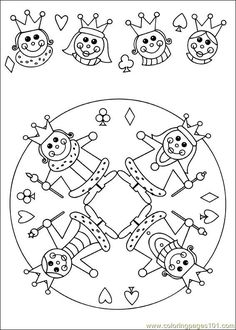 Free Printable Mandala Coloring Pages | free printable coloring page Mandala 61 (Other > Painting)
