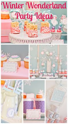 Check out this winter wonderland girl 1st birthday! See more party ideas at CatchMyParty.com. #1stbirthday #winterwonderland