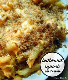 Butternut Squash Mac n' Cheese -- one of my favorite cozy comfort meals ever!