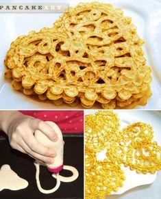 Wow, it's a real pancake art!