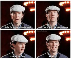 Benedict Cumberbatch is adorable.