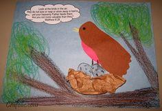 Robins and Your Value to God Bible Verse ~ Craft | Catholic Inspired robin, catholic crafts, bibl craft