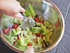Lunch Hack: Use a Pizza Wheel to Chop Your Salad Directly in the Bowl