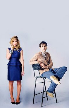 Billie and David! And I love that her dress is TARDIS blue. ;)    P.S. she is so beautiful I don't even know.