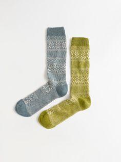 Madewell Lisa B.® Fair Isle trouser socks.
