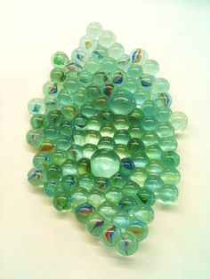 Recycled fused marbles