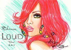RihannaLOUD Tour 2011 illustration by Hayden Williams