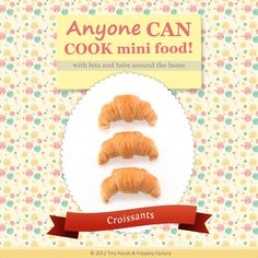 Get crafty and learn how to make miniature polymer clay croissants! This FREE PDF tutorial shows you step-by-step instructions with super clear photos!