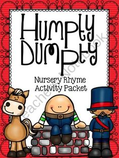 Humpty Dumpty Activity Packet Giveaway! Enter for your chance to win 1 of 5.  Humpty Dumpty Nursery Rhyme Activity Packet (86 pages) from Notebooking Nook on TeachersNotebook.com (Ends on on 10-29-2014)  Humpty Dumpty Activity Packet is just one title in a new nursery rhyme series I just released - 9 titles in all. This set (and all the other new sets) includes both colored and black & white options, wall posters, full-size tracing pages, notebooking pages, half-size booklets, half-size ...