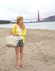 beaches, cloth, fashion style, neon, fedoras, at the beach, san francisco, old navy, spring style