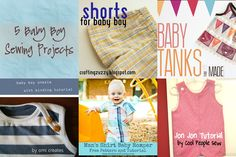 Yay for Baby Boy Sewing Projects! - Great roundup of baby boy clothes tutorials that include FREE patterns!