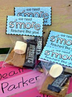 Teacher Appreciation Week. I could TOTALLY do this one too! party favors, teacher gifts, wedding favors, smore teacher, sweet treats, teacher appreciation gifts, appreci week, parti, student gifts
