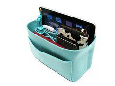 S8 Baby blue felt bag organizer  small size W 9in H 6in by samorga, $29.95