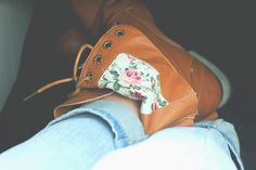 Boots and Floral with Blue jeans