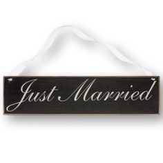 "Wooden ""Just Married"" Sign 
