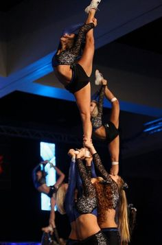 Cheer scorpion needle stunt cheerleading competitive competition cheerleaders m.9.51 moved from @Kythoni Cheerleading: Competitive board http://www.pinterest.com/kythoni/cheerleading-competitive/ #KyFun