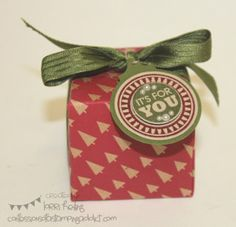 UPCOMING NEW PRODUCT! Box Punch Board! :: Confessions of a Stamping Addict Stampin' Up Christmas Box