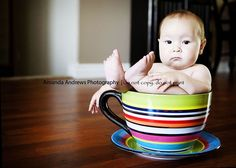 I told you this coffee tasted like CRAP! tea time, infant photos, babi pictur, portrait photography, alice in wonderland, coffee cups, cup pictur, baby pictures, giant teacup