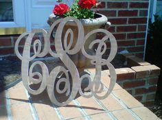 Wooden Monogram (LaTda Sew Unique)