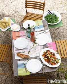 Outdoor Table Setting Ideas - How to Set Your Outdoor Table - House Beautiful