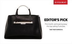 Enter our Editor's Pick Giveaway at #ShopBAZAAR to win this classic Furla tote!