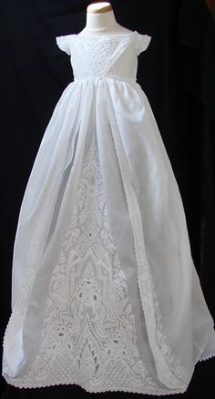 Beautiful 1860's Ayrshire Christening Gown