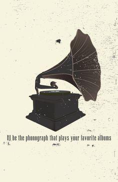 Phonograph 11 x 17 Art Print Poster by ragandbonestudio on Etsy, $22.00