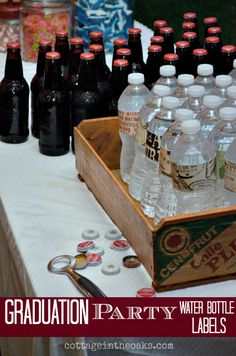 Personalize your bottles for your graduation party!