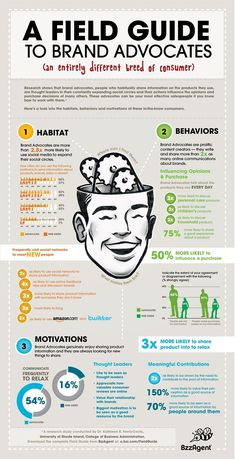 Good data on brand advocates/influencers. #infographic