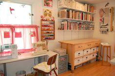 """Craft Room Love"" #furniture #painting #craftroom #inspiration"