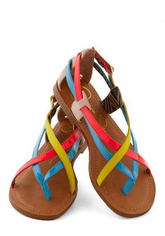 The Pleasing to the Island Sandal will make you want to book your next tropical getaway ASAP! jessica simpson sandals, colorful sandals, summer sandals, fashion, island sandal, cloth, neon sandals, neon colors, shoe