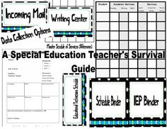A Special Education Teachers Survival Guide  from Classy Gal Designs and Publishing on TeachersNotebook.com -  (180 pages)  - Special Education Organizational Materials  Contents:  Graphic Organizers for Program Design  Data Sheet for Student Information  Tons of Cover Sheets for Your Binders and Folders  Materials for... Schedule Binder, Cover Sheets and Page Dividers  labels f
