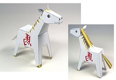 FREE printable horse paper toy
