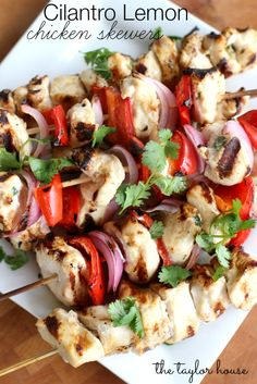 Cilantro Lemon Chicken, Chicken Skewers, Chicken Recipes