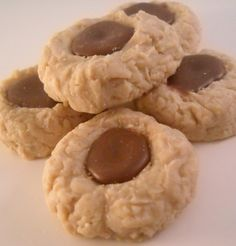 Peanut Butter Thumb Print Cookies with a Chocolate Center Candle Tart Melts Soy Wax Wickless Candles.