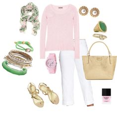Pink & Pearl, created by hosefish on Polyvore