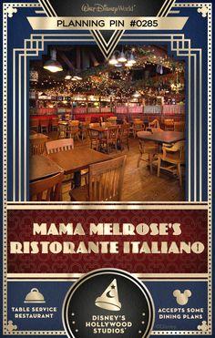 Walt Disney World Planning Pins: Mama Melrose's Ristorante Italiano