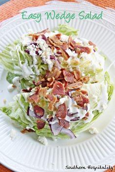 Easy Wedge Salad - Southern Hospitality