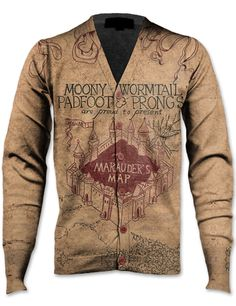 Marauder's Map cardigan.