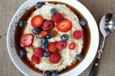 Creamy Brown Rice Farina with Fresh Berries | Project Domestication