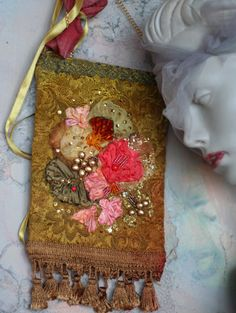 romantic purse embroidered and beaded crossbody by FleurBonheur, $146.00
