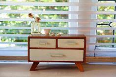 miniatures, dollhous, drawer unit, minis, squar head, chest of drawers, live