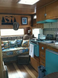 retro trailer, fli fish, camp, vintag glamper, fish time